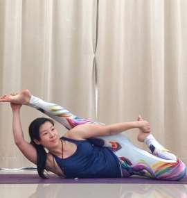 Anantasana (Eternal one's pose/ Lord Vishnu's couch pose)