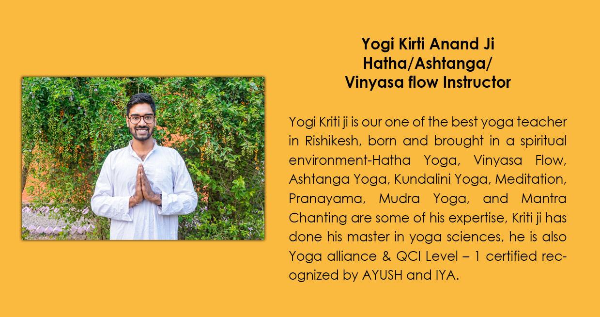Yogi Kriti Anand Ji