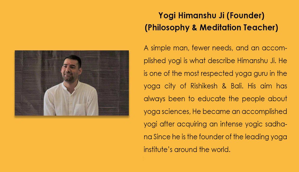 yogi himanshu ji bali yoga school