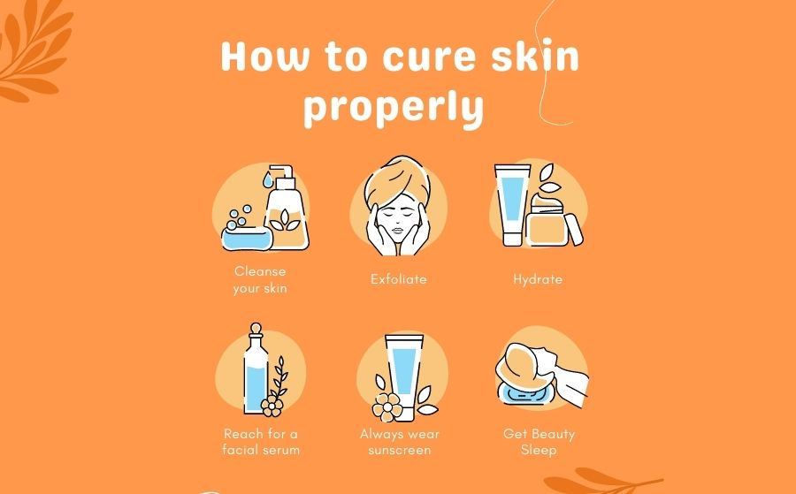 how to cure skin properly daily rutine infographic bali yoga